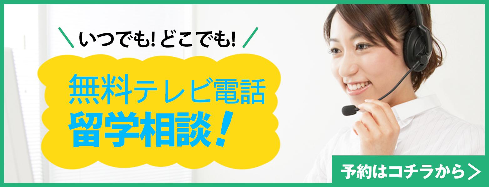無料テレビ電話留学相談実施中!